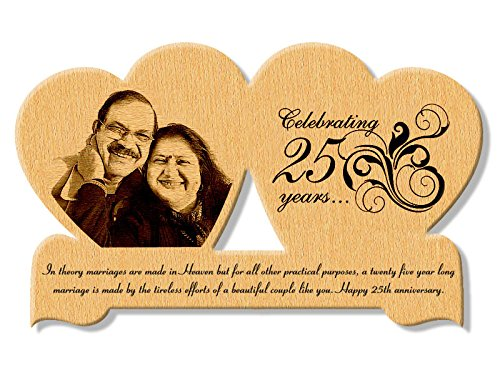 Twin engraved wooden frame