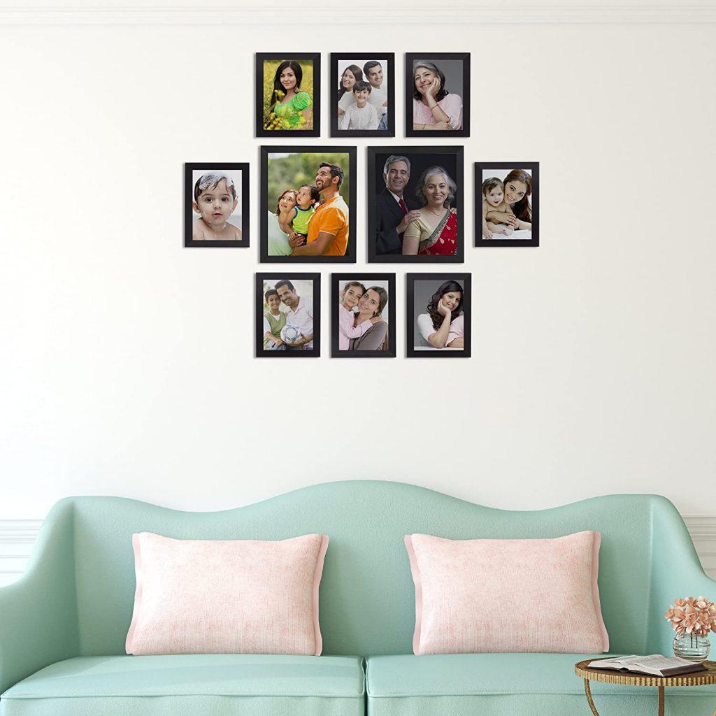 set of 10 frames