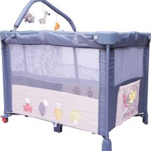 R for Rabbit Hide and Seek Baby Bed Smart Folding Baby Cot Crib (Grey)